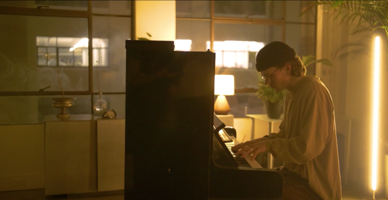 Chillwave music producer ford. Shared stripped-down piano performance video